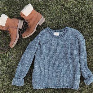Hippie Rose Blue Sweater